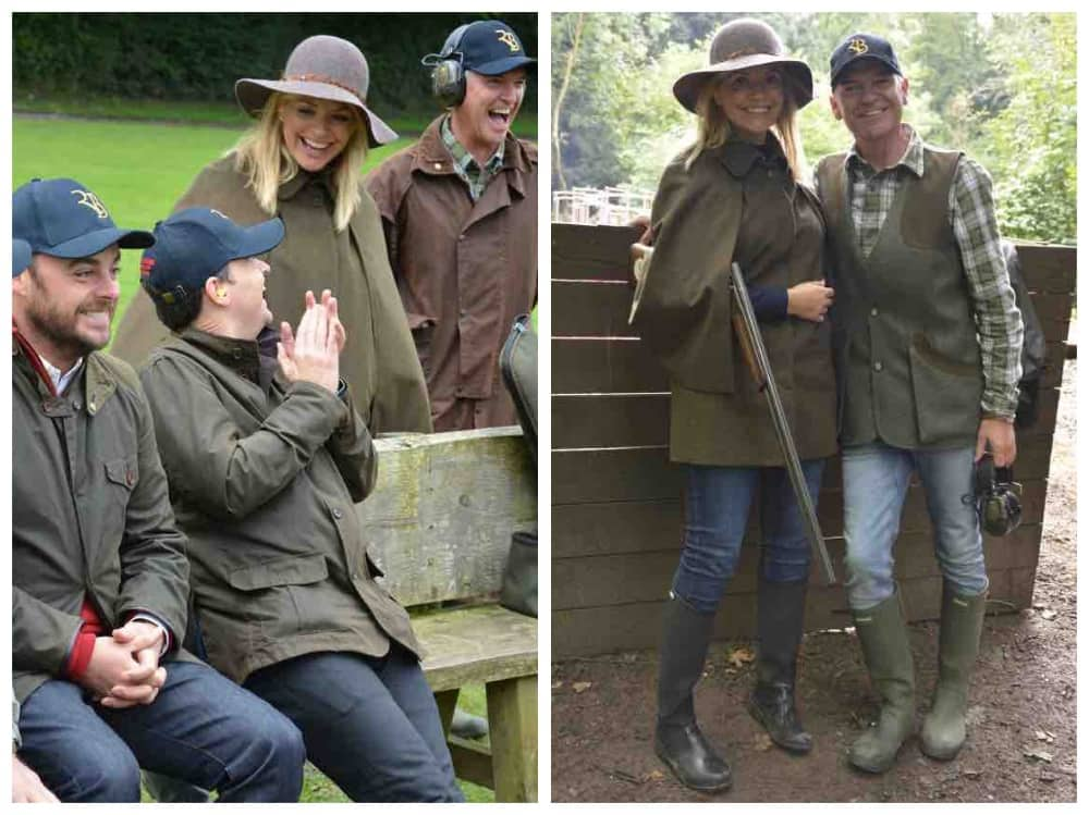 Holly Willoughby Phil Schofield Ant and Dec Royal Berkshire Shooting School chairs shoot