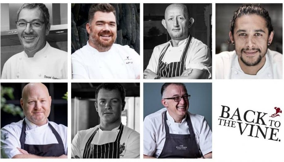 Seven Michelin starred chefs who worked at the Vineyard Hotel Stockcross Berkshire return for 20th anniversary Back To the Vine