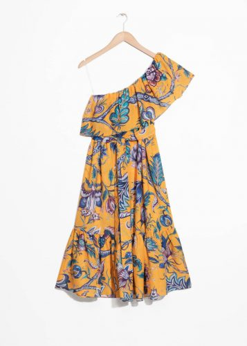 Yellow on shoulder ruffle dress House of Hackney print for & Other Stories