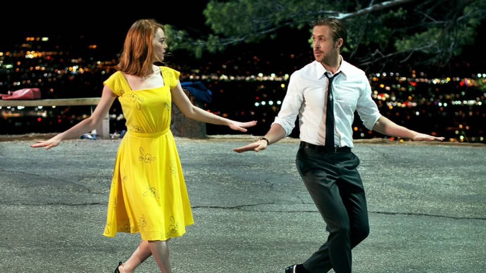 La La Land Ryan Gosling and Emma Stone dancing
