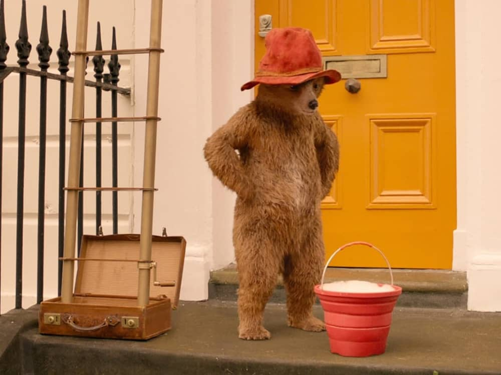 Paddington 2 Paddington bear doorstep yellow door bucket of water