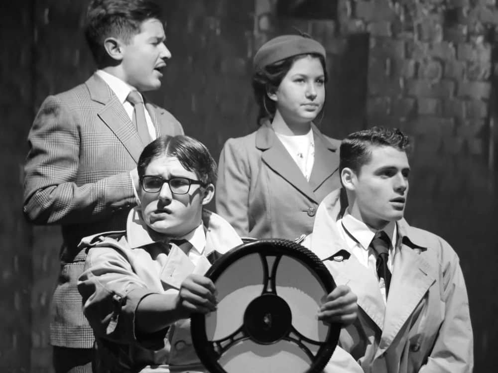 black and white photo of theatre productions Pangbourne College