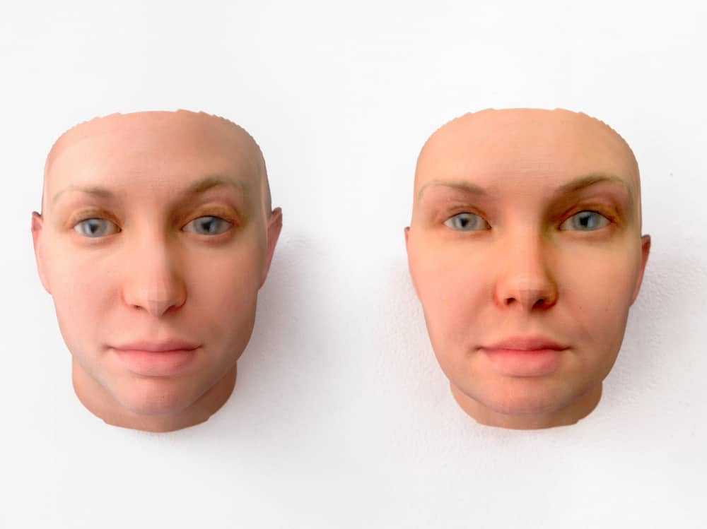 The Future Starts Here V&A two faces DNA portrait of Chelsea Manning by Heather Dewey Hagborg