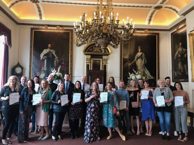 Muddy Stilettos Awards Winners' Drinks Windsor Guildhall Berkshire