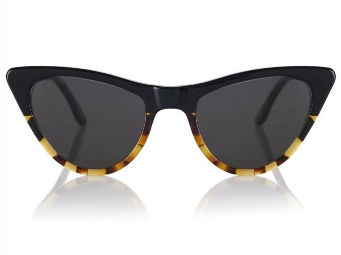 Prism London tortishelle and black st Louis cats eye sunglasses