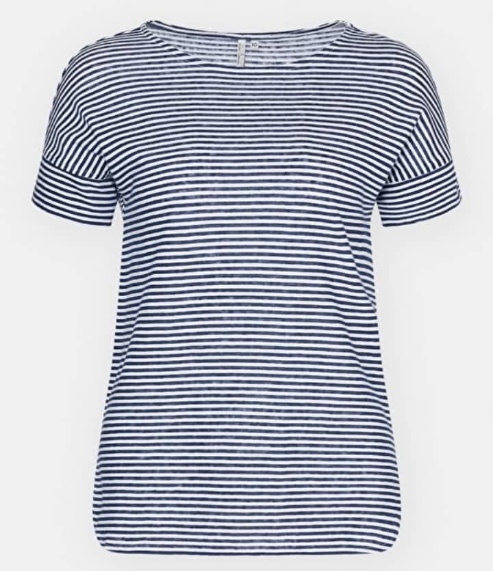 Blu and white striped cotton t shirt Seasalt Cornwall Carclew t shirt