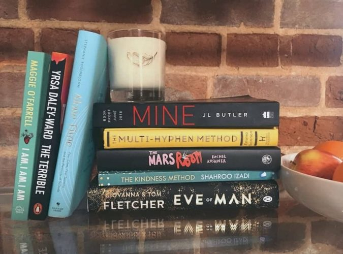 June's best books in a bundle piled on shelf