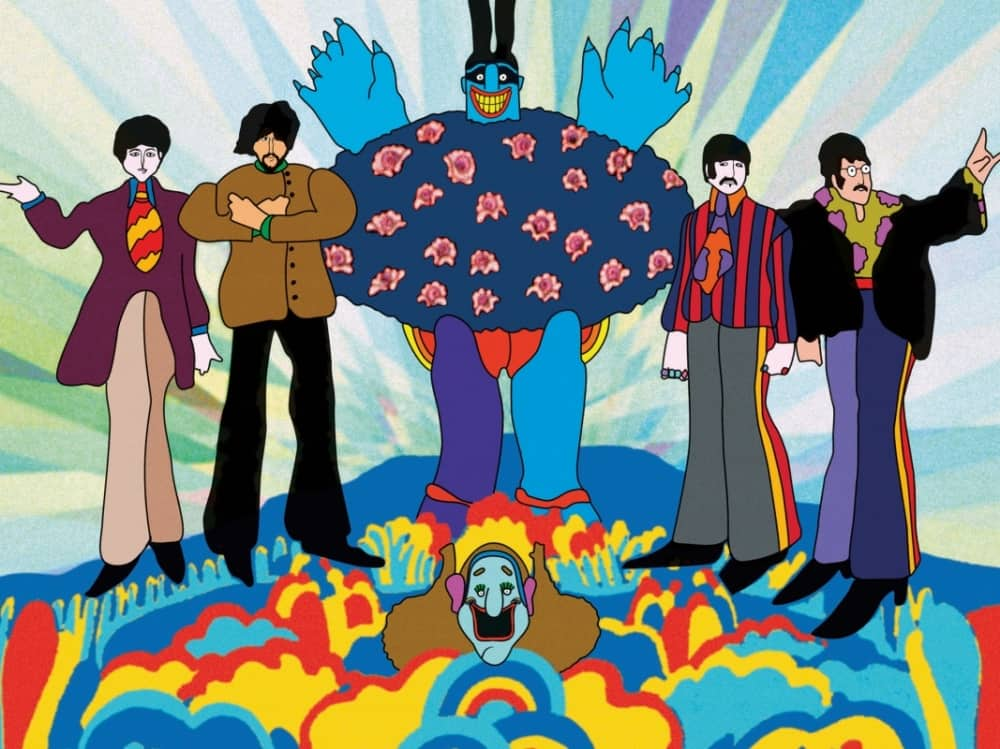 Yellow Submarine psychedelic animated film starring The Beatles 50th anniversary