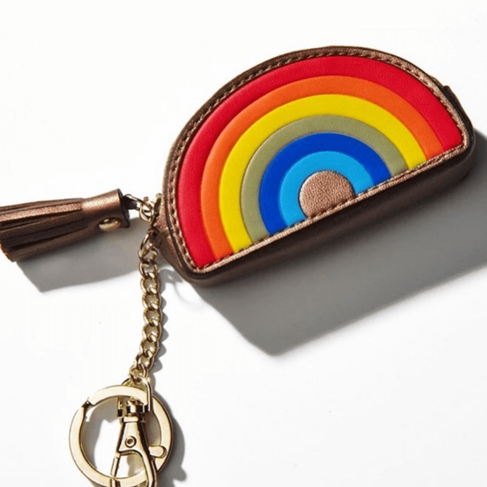 Millie Pink rainbow coin purse