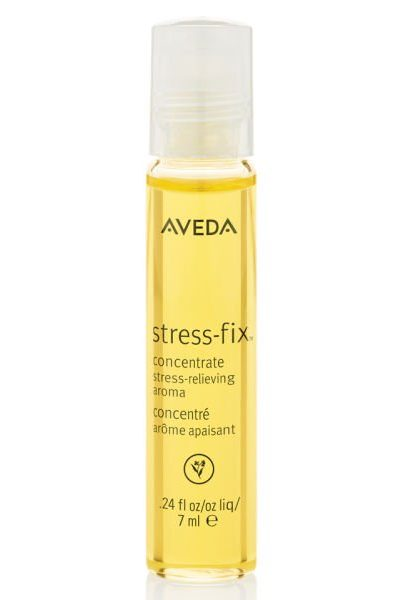 Veda Stress Fix yellow clear bottle with white cap