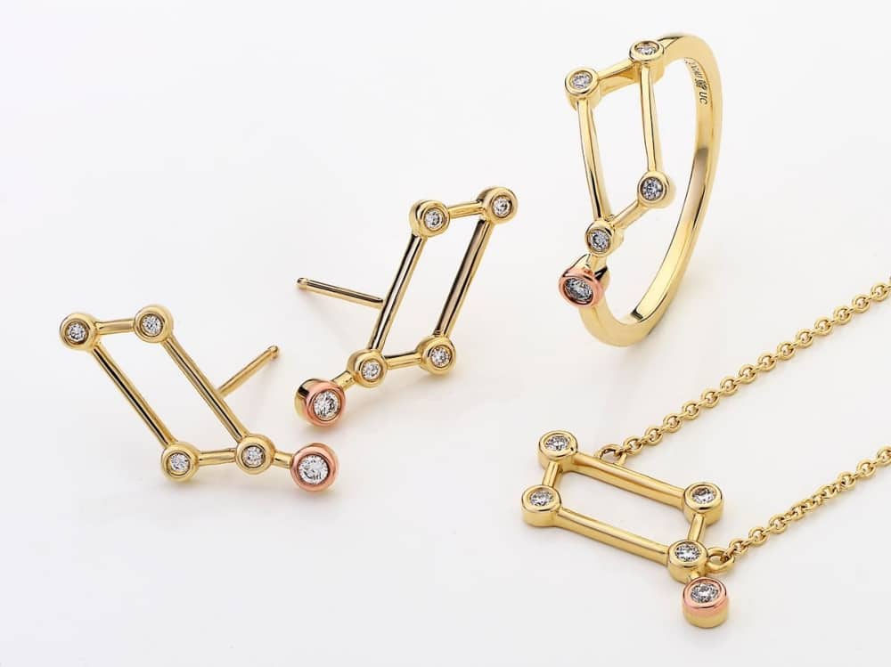 Clogau welsh gold constellation collection called lyra