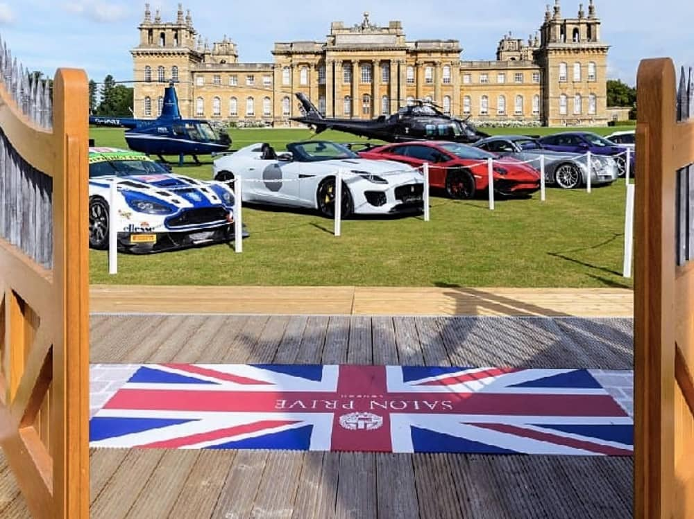 Classic cars and supercars in front of Blenheim Palace Woodstock Oxon