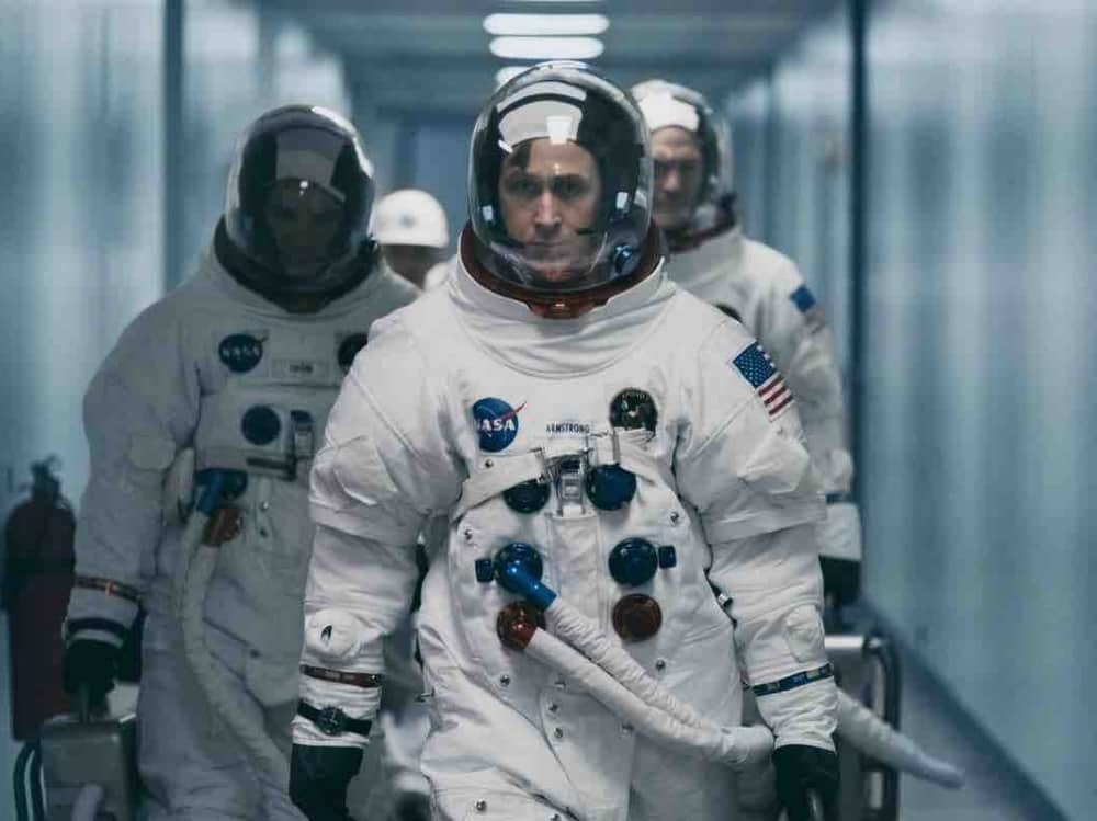 First Man film starring Ryan Gosling as Neil Armstong Moon landing