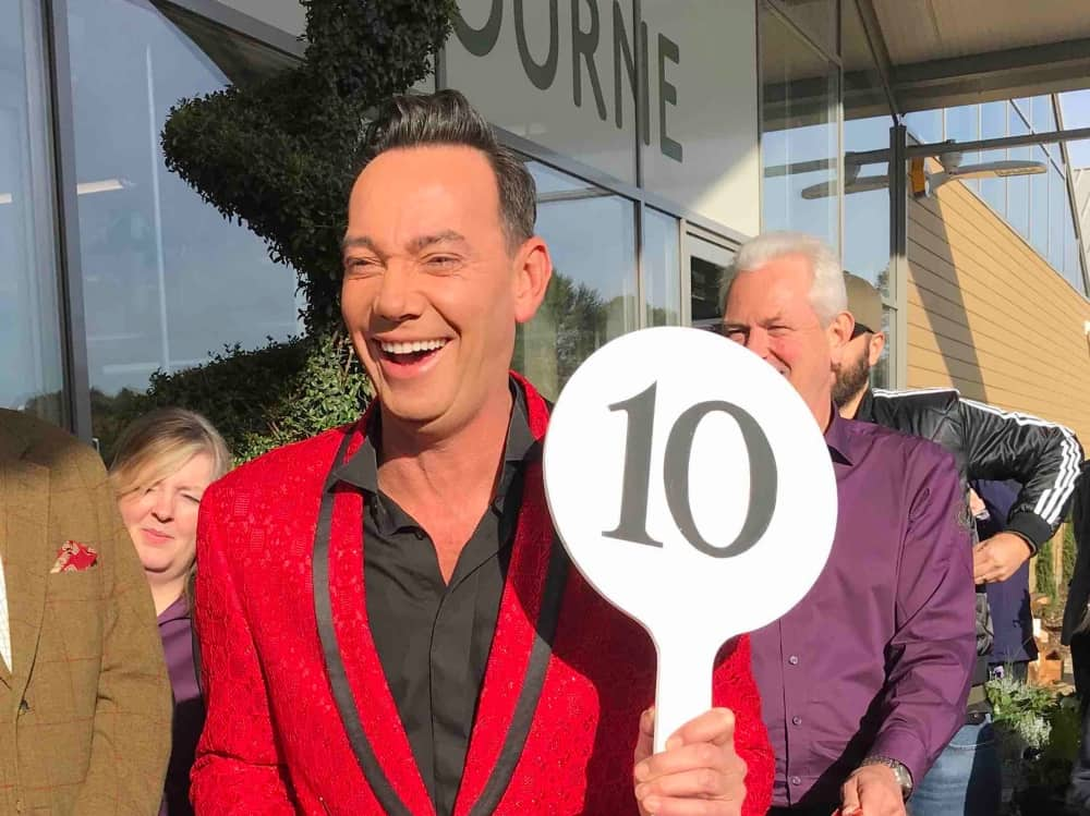 Strictly Come Dancing Judge Craig Revel Horwood Rosebourne Aldermaston red blazer number 10 judging paddle