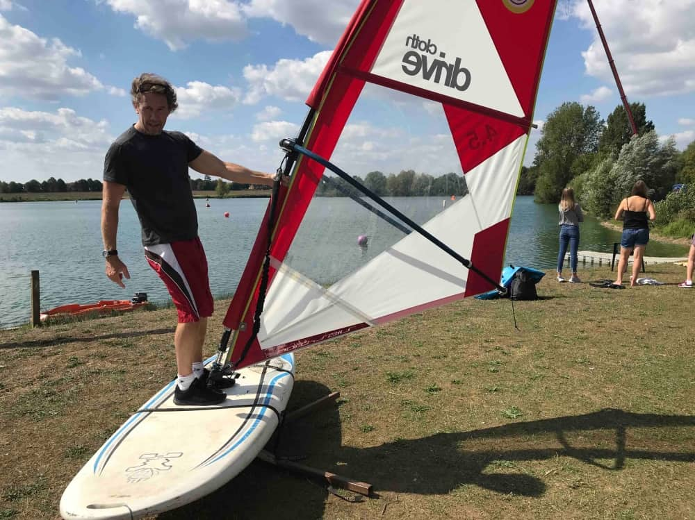 Windsurfing instructor Andy Reynolds Windsurfing simulator