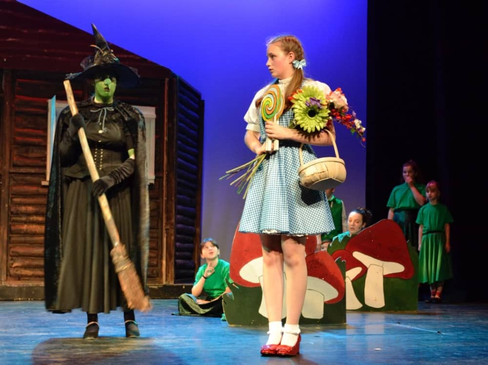 Wizard of Oz Rare Productions Dorothy paired hard carrying a flower with wicked witch carrying broomstick