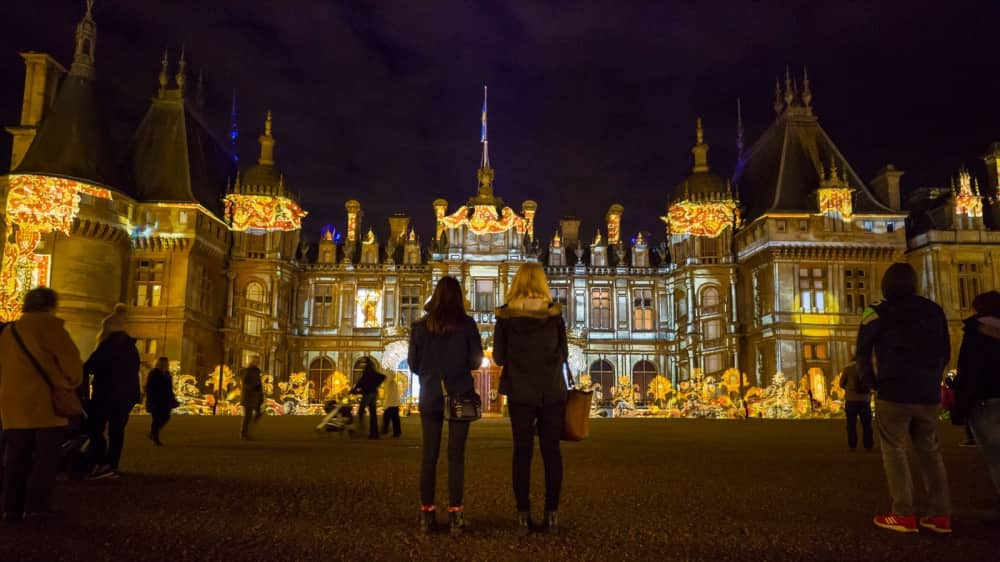 Waddesdon Manor Christmas illuminations and market