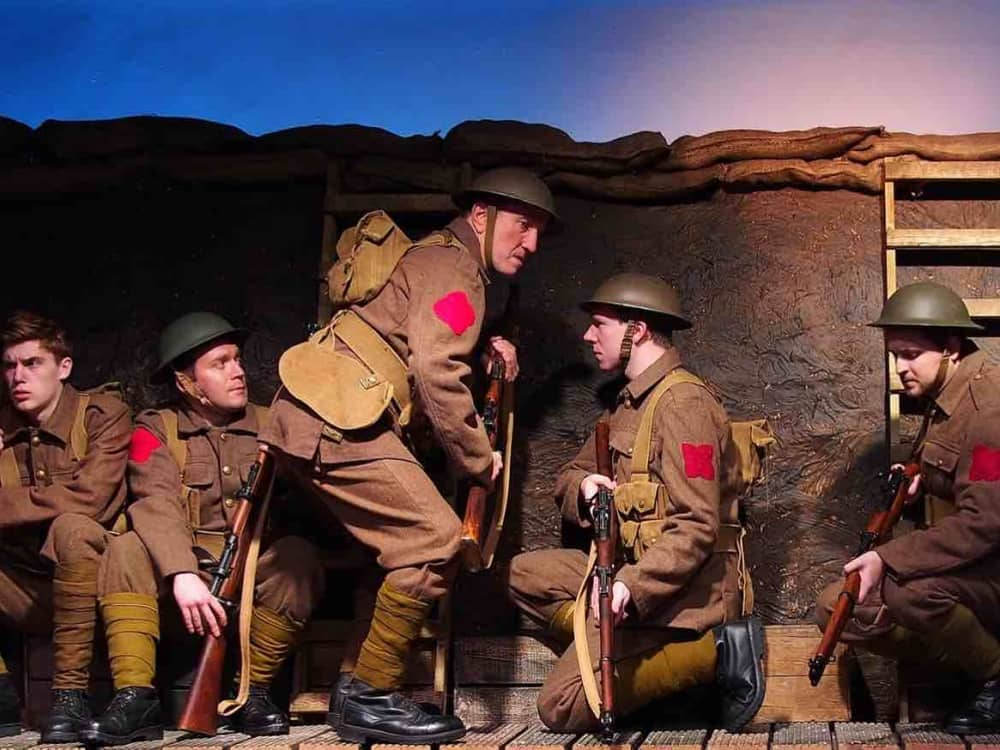 Birdsong Progress Theatre WW1 soldiers in trenches