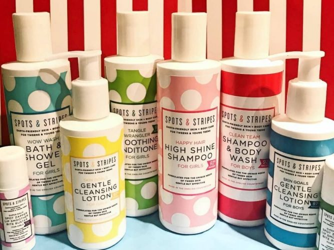 Teen tween earth friendly skincare brand Spots & Stripes