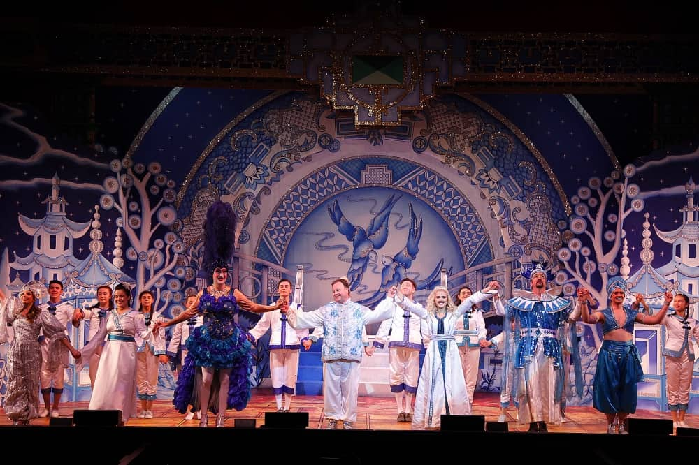 Aladdin Reading Hexagon finale Justin Fletcher blue and white set