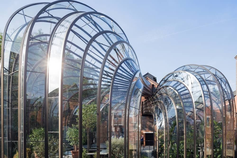Bombay Sapphire curved glass house