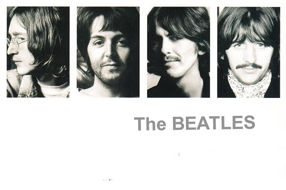 the Beatles White album band members headshots