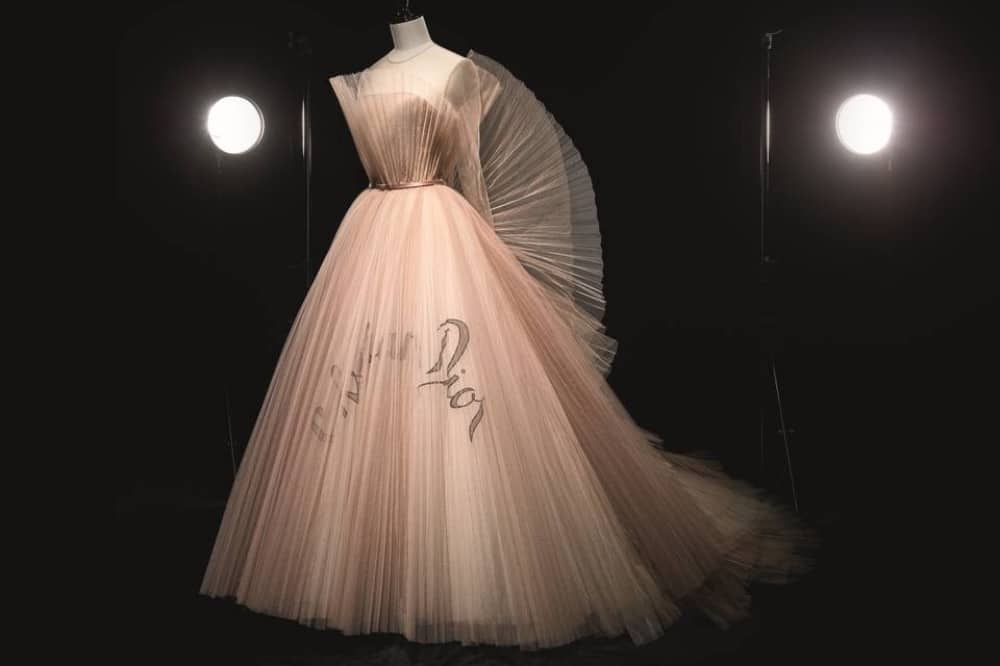 Christian Dior pink tulle gown