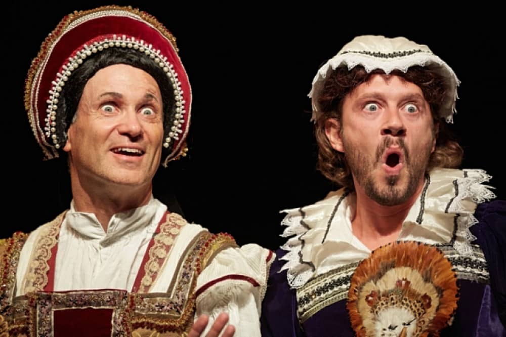 Horrible Histories Brand new barmy Army two men dressed as royal women