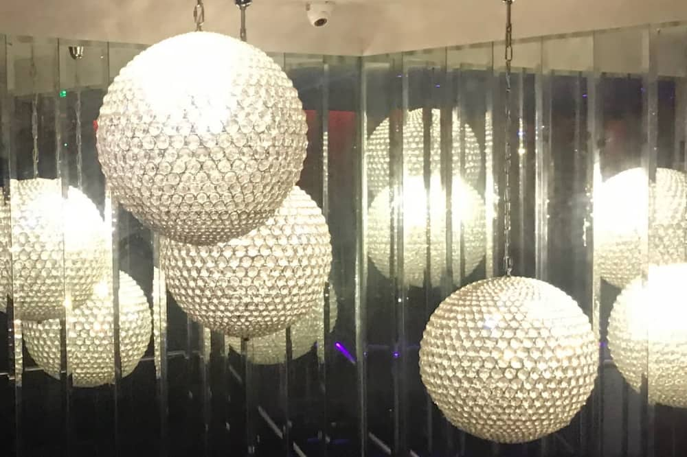 Ascot Fifty5 balls of crystal chandeliers