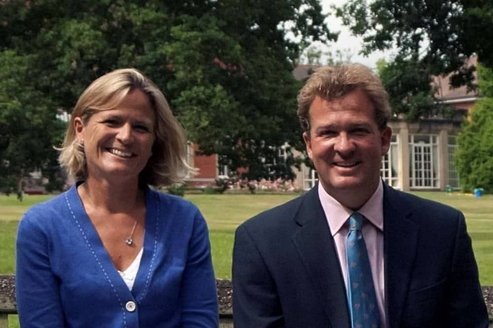 Elstree School Woolhampton Berkshire Headmaster Sid Inglis and wife Olivia