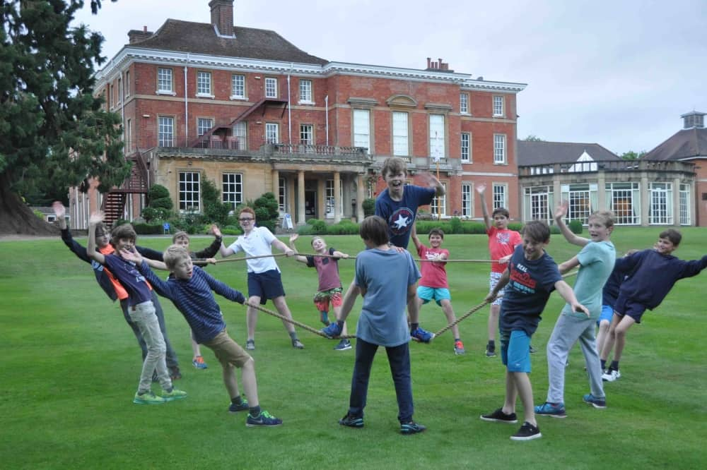 Elstree School Woolhampton Berkshire brick Georgian mansion boys leadership and team building skills