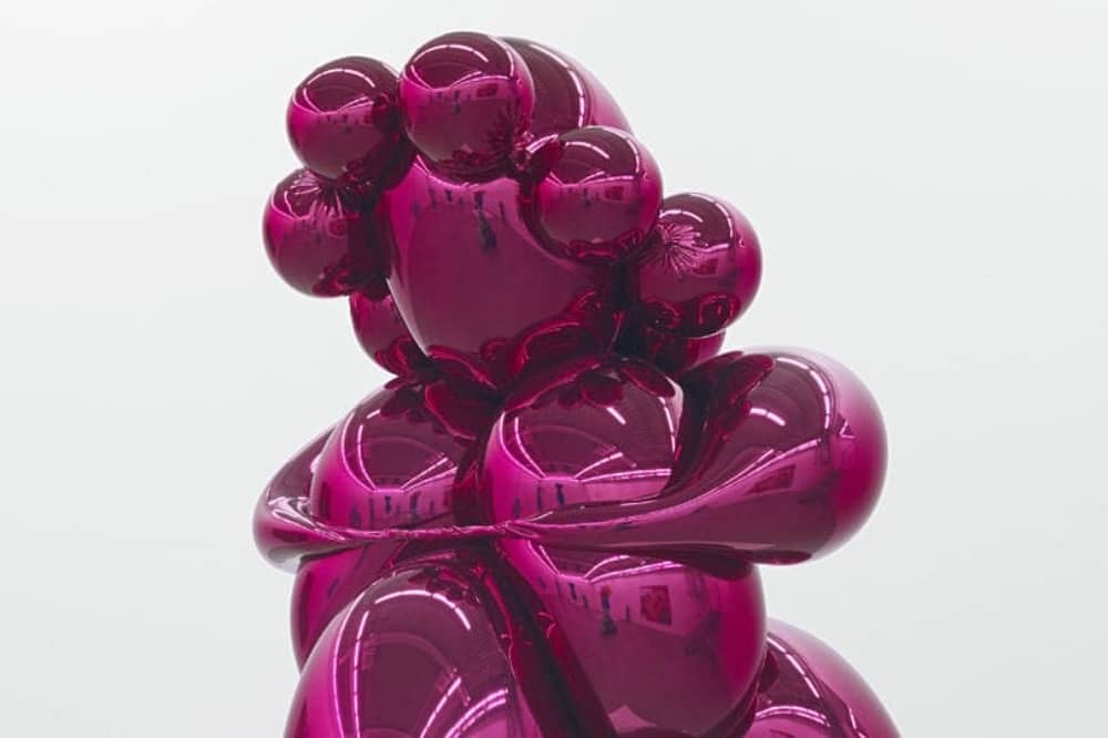 Jeff Kloons pink bubble sculpture