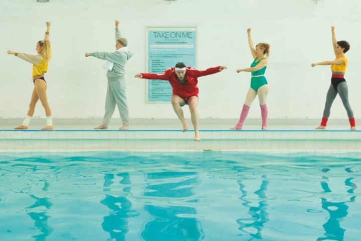 5 people i1980s fitness gear leisure centre pool