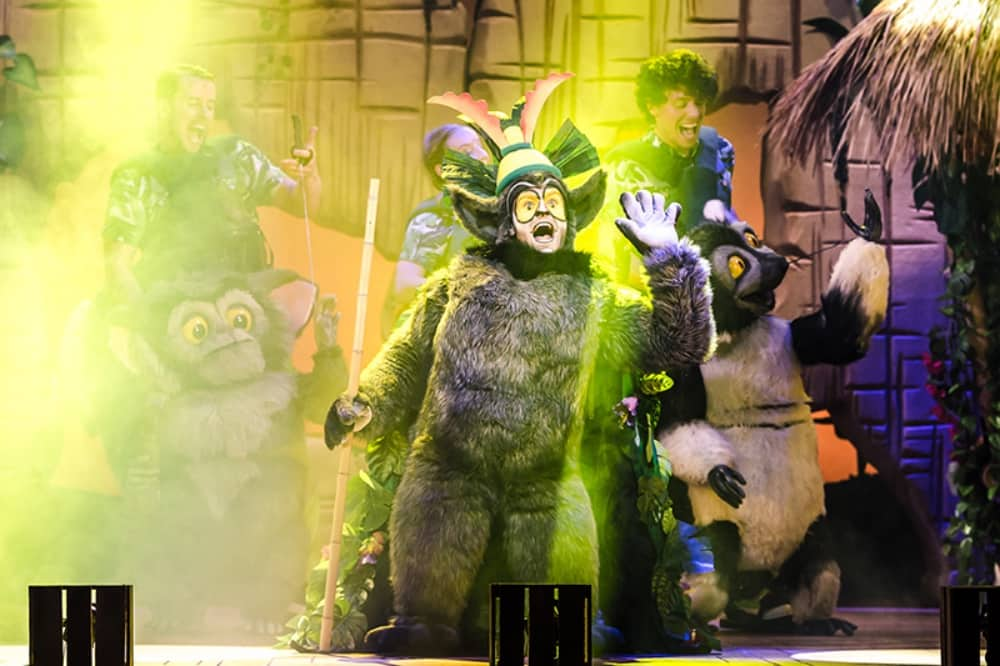 Jo Mason King Julien lemur madagascar the musical green smoke