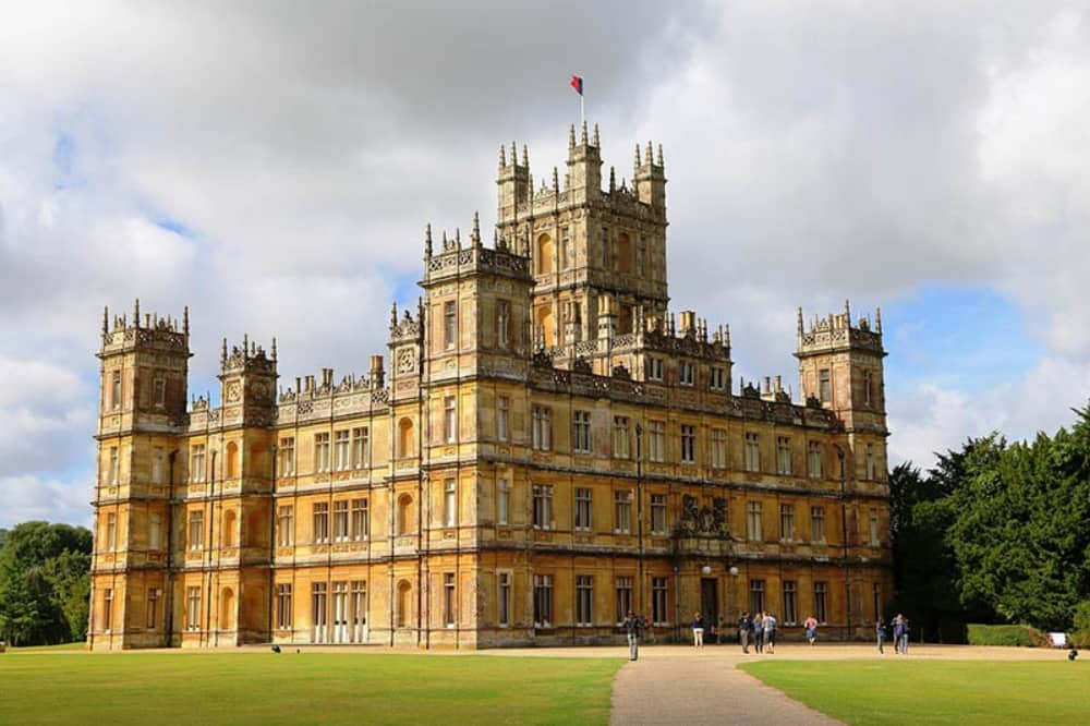 Highclere castle Newbury Berkshire gothic country house Downton Abbey