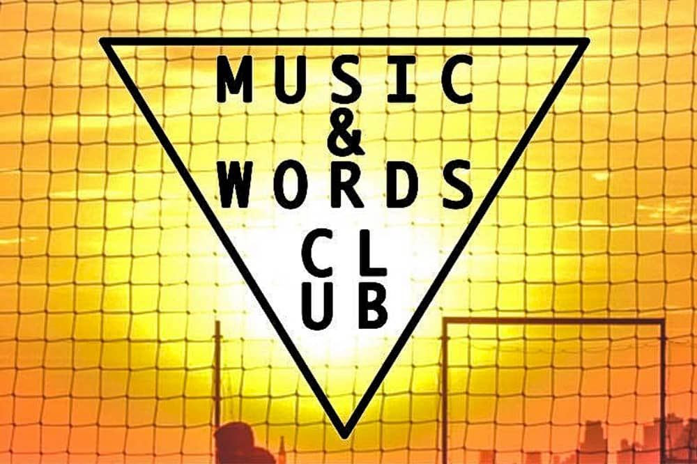 Music and words club sunset grid filler