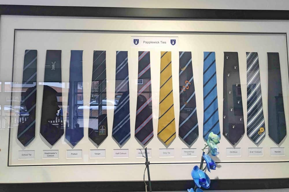 Papplewick School Ascot Berkshire a selection of the ties on offer from sports tours and clubs leadership roles