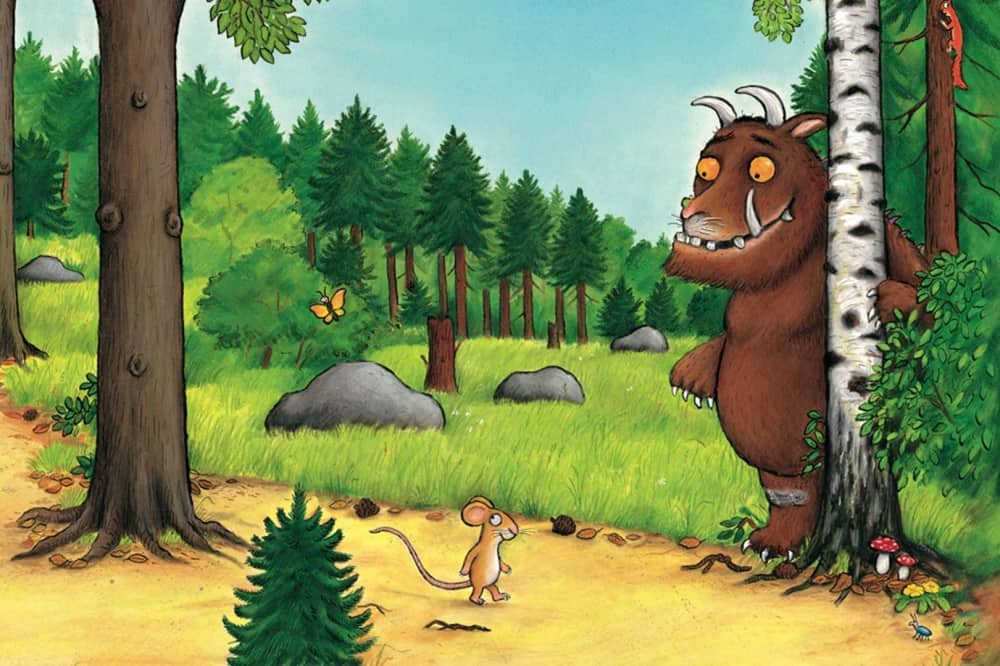 THE Gruffalo next tree with mouse on the path