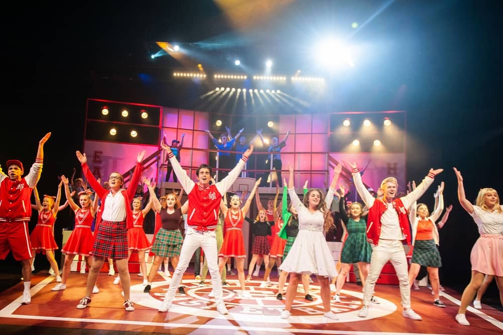 High School musical stage musical South Hill Park Bracknell cast on stage