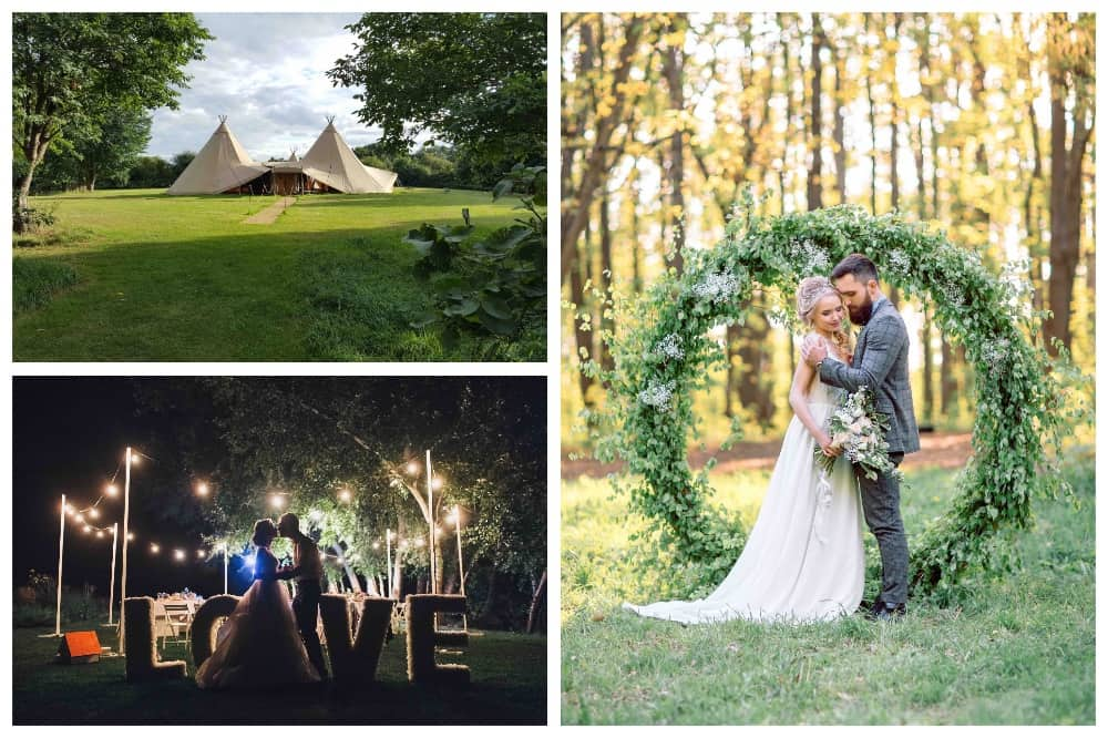 FOREST EDGE TIPIS woodland wedding venue