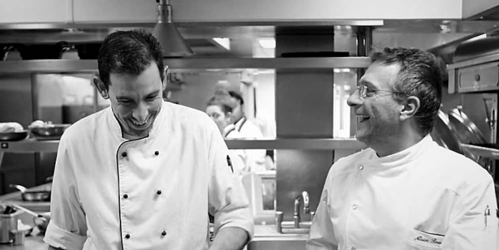 Waterside Inn kitchen chefs Alain Roux and Fabrice Uhryn