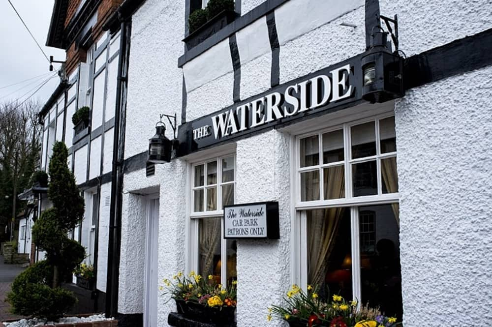 Waterside Inn 16th century black and white building Bray Berkshire