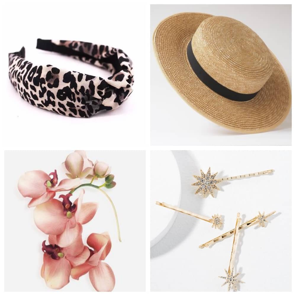 Alaternative headwear for ladies day at the race headband star boater floral band and decorative hair clips
