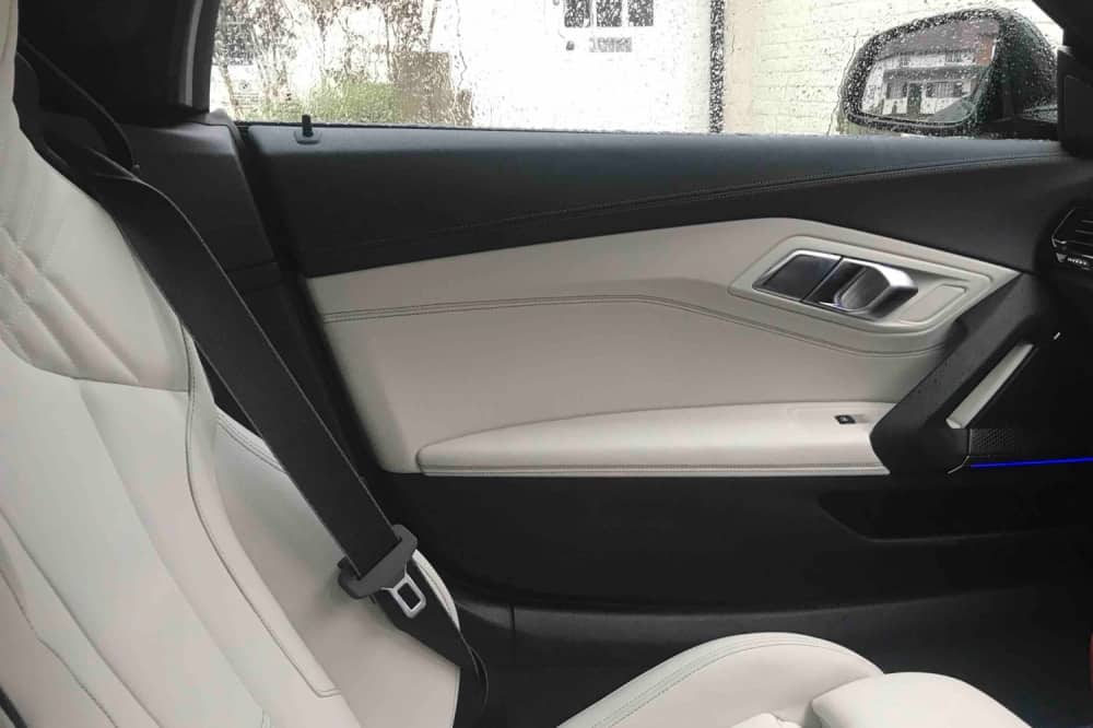 BMW Z4 test drive white and black leather interiors – BME Hungerford