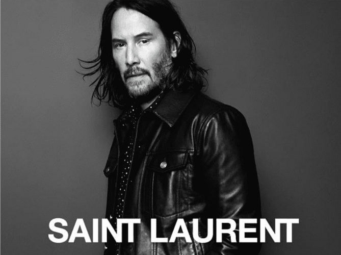Keanu Reeves Fall YSL campaign