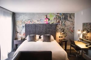 Malmaison Reading bedrooms with graffitti wall and comfy beds