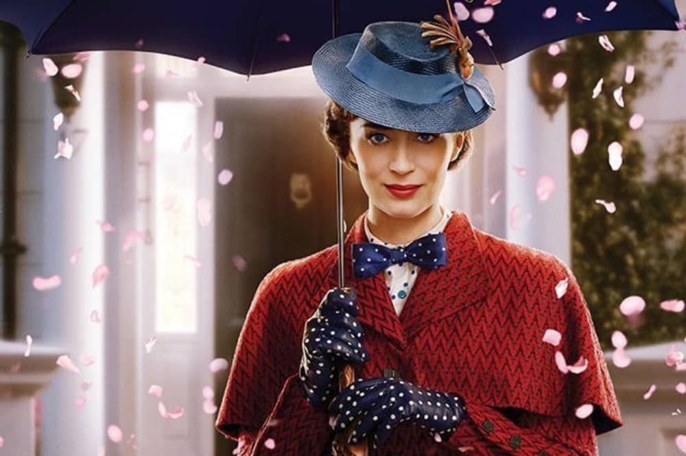 Emma Blunt stars as Mary Poppins in Mary Poppins Returns