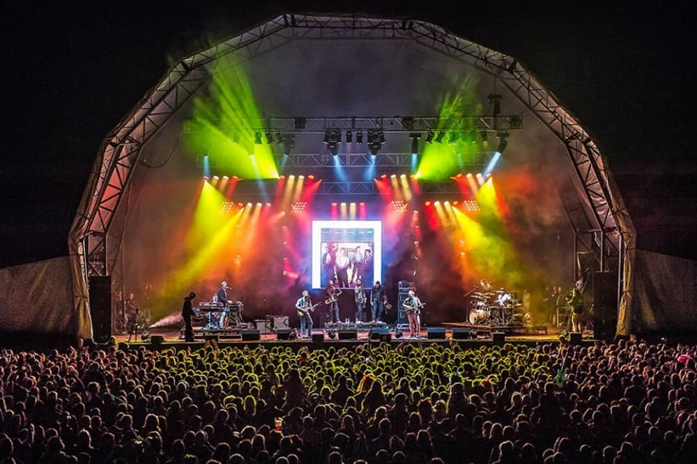 Stage and lighting Rock The Moor retro festival cookham berkshire