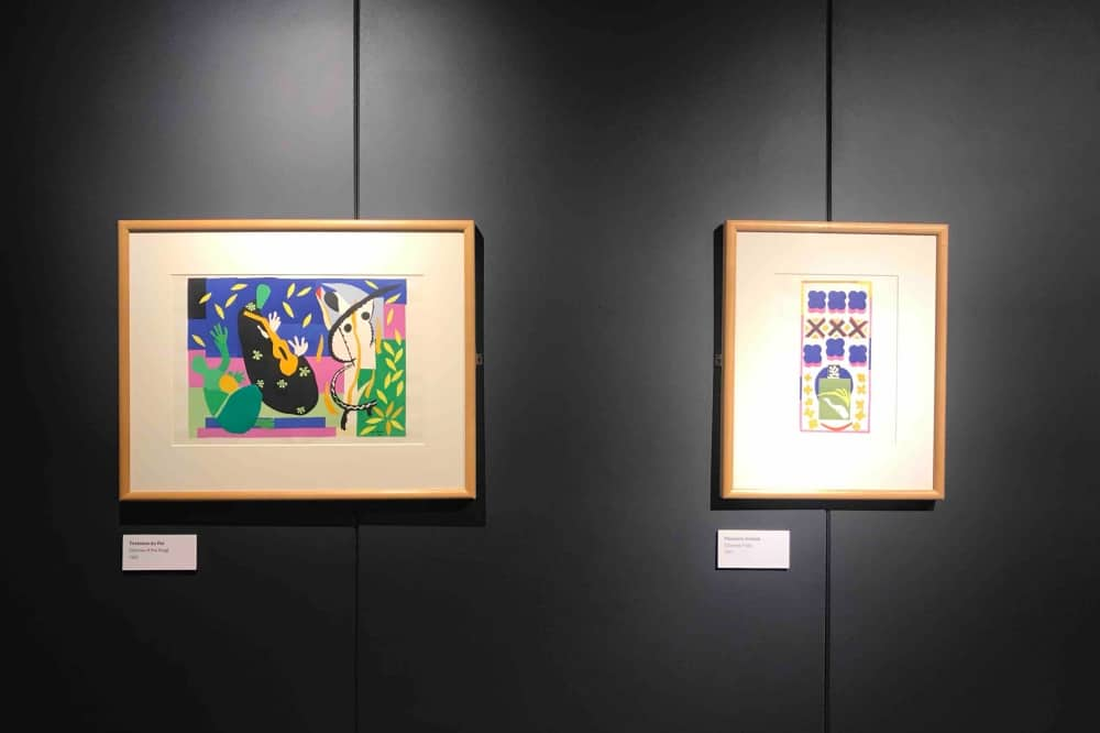 Henri matisse cut outs lithographs The Base Greenham Common Newbury