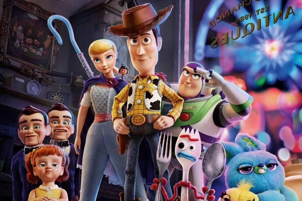 Toy Story 4 animated film Woody Bo Peep Buzz Forky and pals